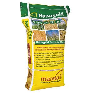 Marstall Naturgold Svart-Gul Hel Havre hästfoder 25kg.